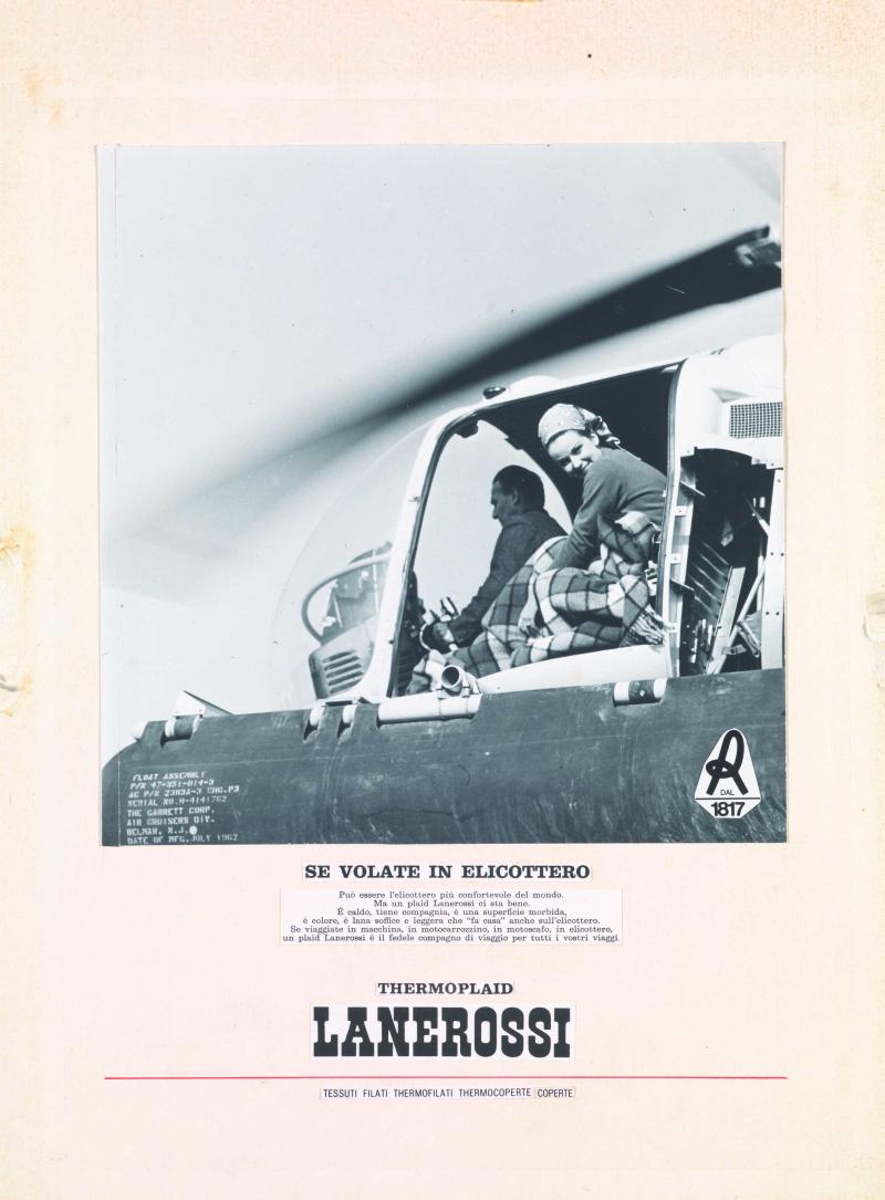 3 Collage per annuncio pubblicitario per Thermoplaid Lanerossi fine anni sessanta