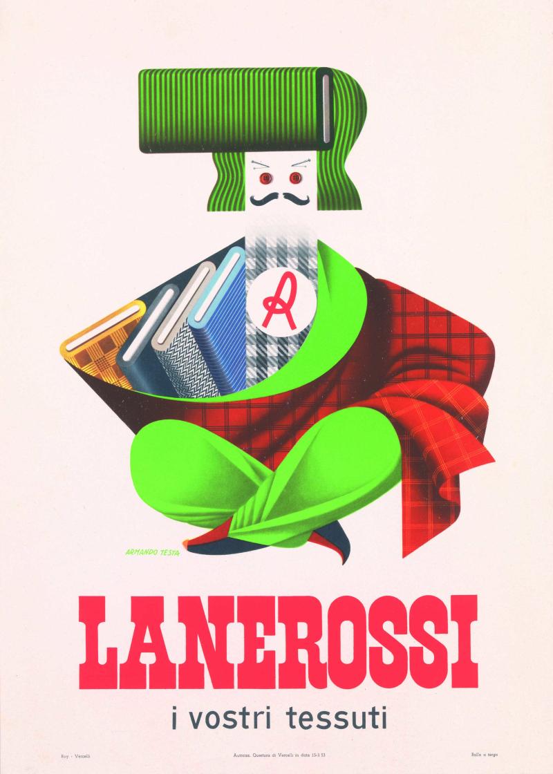 7 Armando Testa annuncio pubblicitario per tessuti Lanerossi 1953