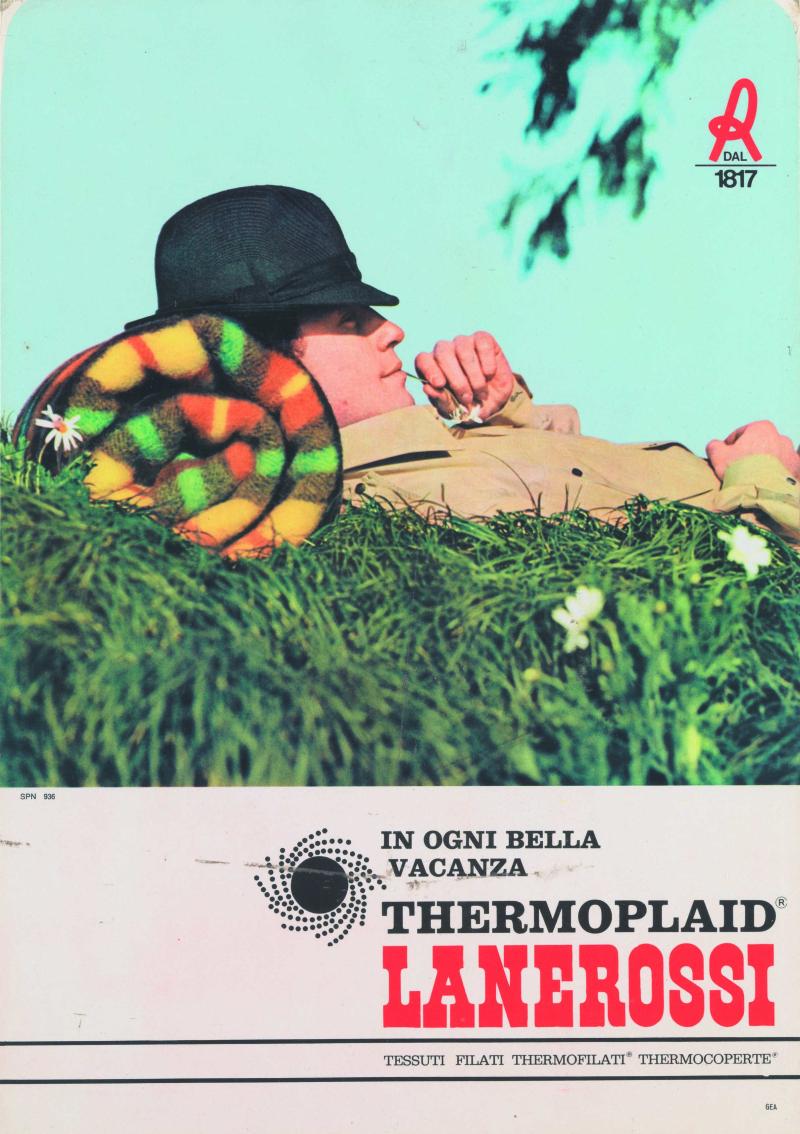10 Espositore pubblicitario per Thermoplaid Lanerossi fine anni sessanta