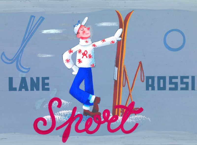 13 Particolare di etichetta per filati Sport Lane Rossi anni sessanta