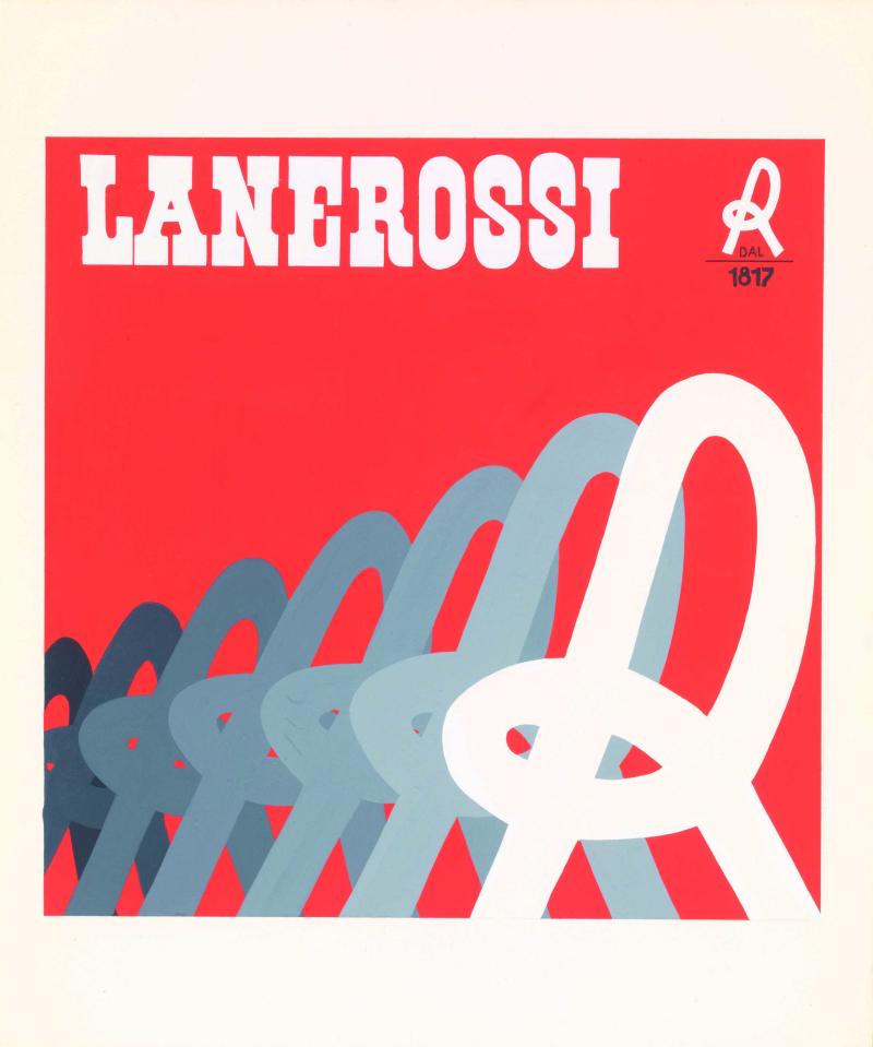 17 G&R Associati bozzetto a tempera  Lanerossi metà anni settanta