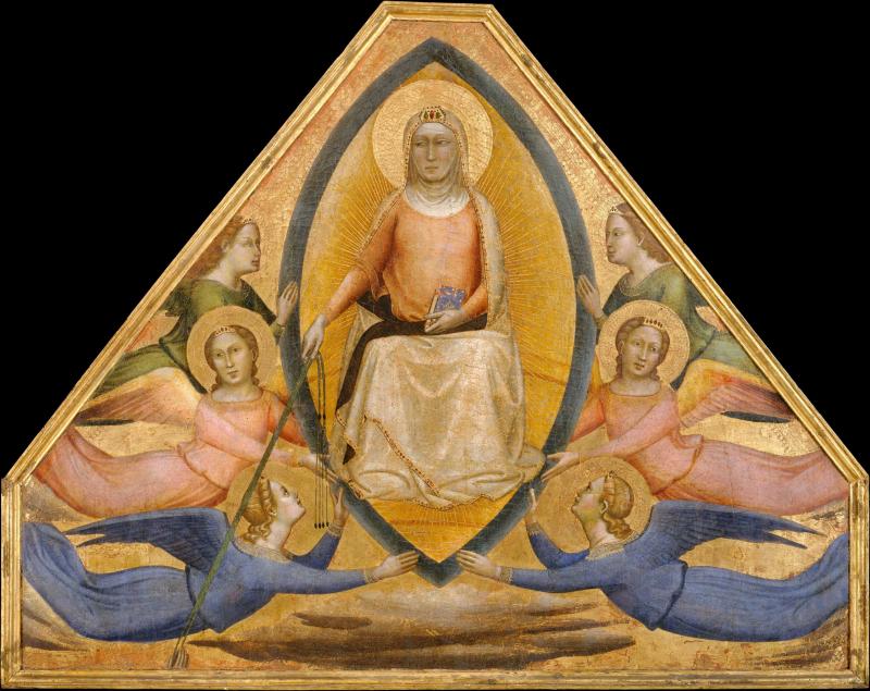 3_Bernardo Daddi  L'Assunzione della Vergine  1337-39  New York  Metropolitan Museum of Art