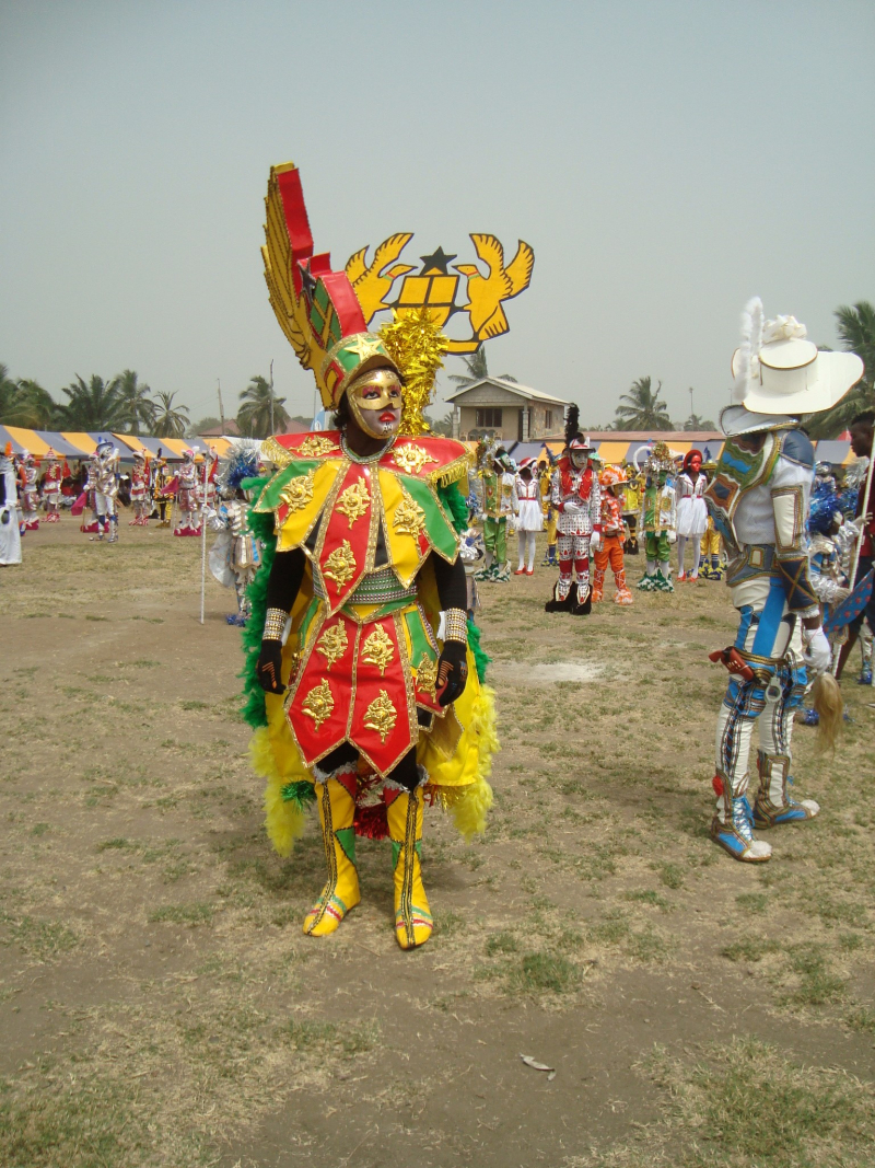 Ghana Herald  Performer Nana Poku Kwabena  asquefest 2017  Winneba  Egyaa No. 2  Tailor Louis Abeaku Yamoah & Nana Poku Kwabena. Photo Courtesy of Courtnay Micots.(3)