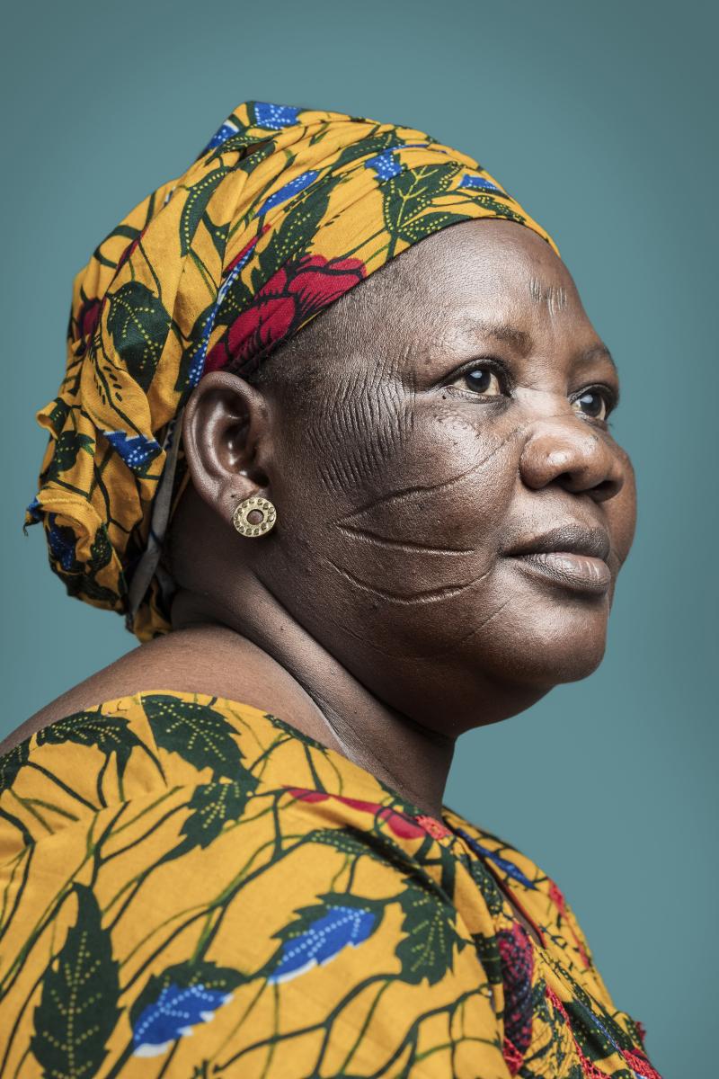 Joana Choumali  Mme Djeneba  Haabré  la dernière génération ( 2013-2014)  60 x 90 cm  Print on Baryta paper  courtesy the artist