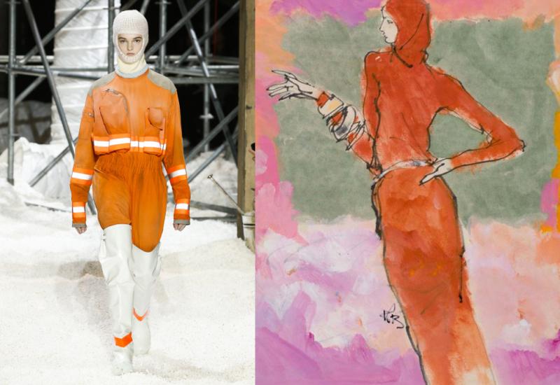 CKlein_AW18_a_Kenneth Paul Block_1974_Model in Dress by Bonnie Cashin