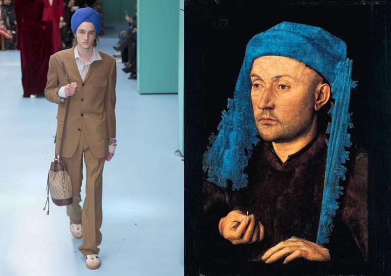 Gucci_AW18_z_Man in Blue Turban 1430 by Jan Van Eyck