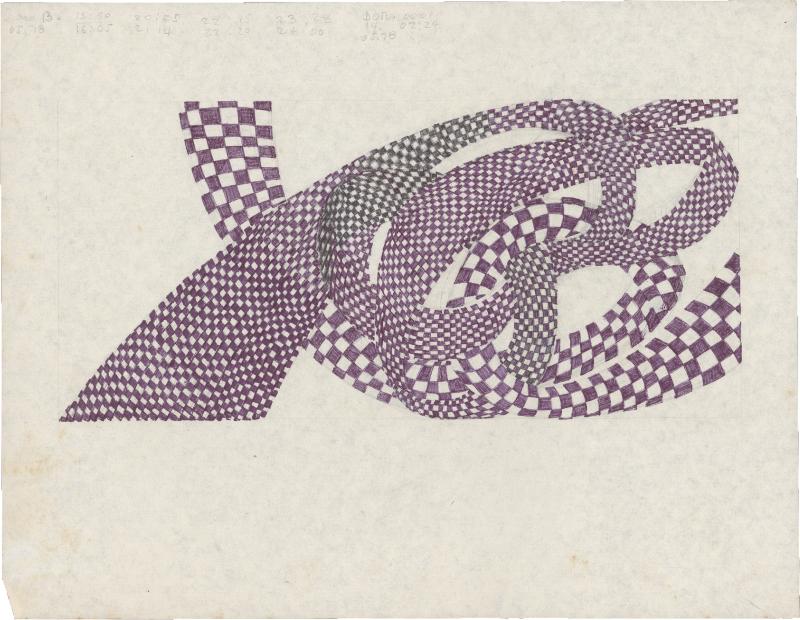 Teresa Burga_Ilusión óptica. Sogas entrelazados  1978_072