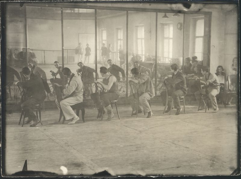 Photograph of rehearsals of The Bolt, 1931, Courtesy of GRAD and St Petersburg State Museum of Theatre and Music (11)