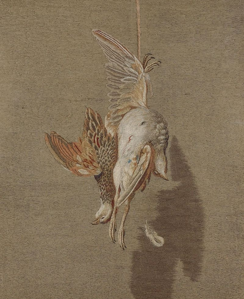 BritishFolkArt_Hanging Partridge_Mary Linwood