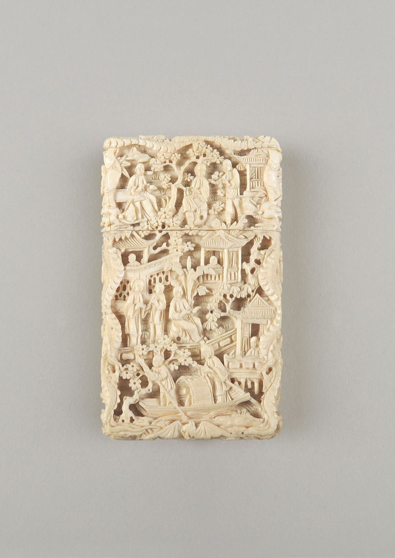 Towneley Hall_ivory card case_19thCentury