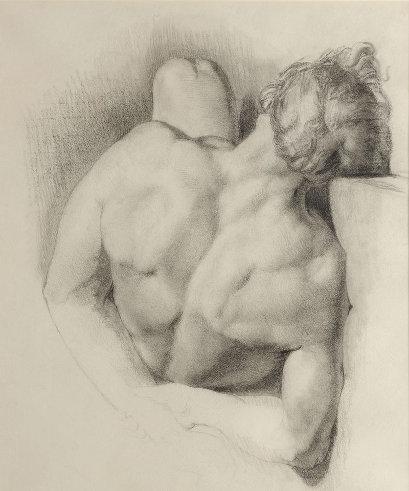 Towneley_John Everett Millais_Male nede study_c.1847
