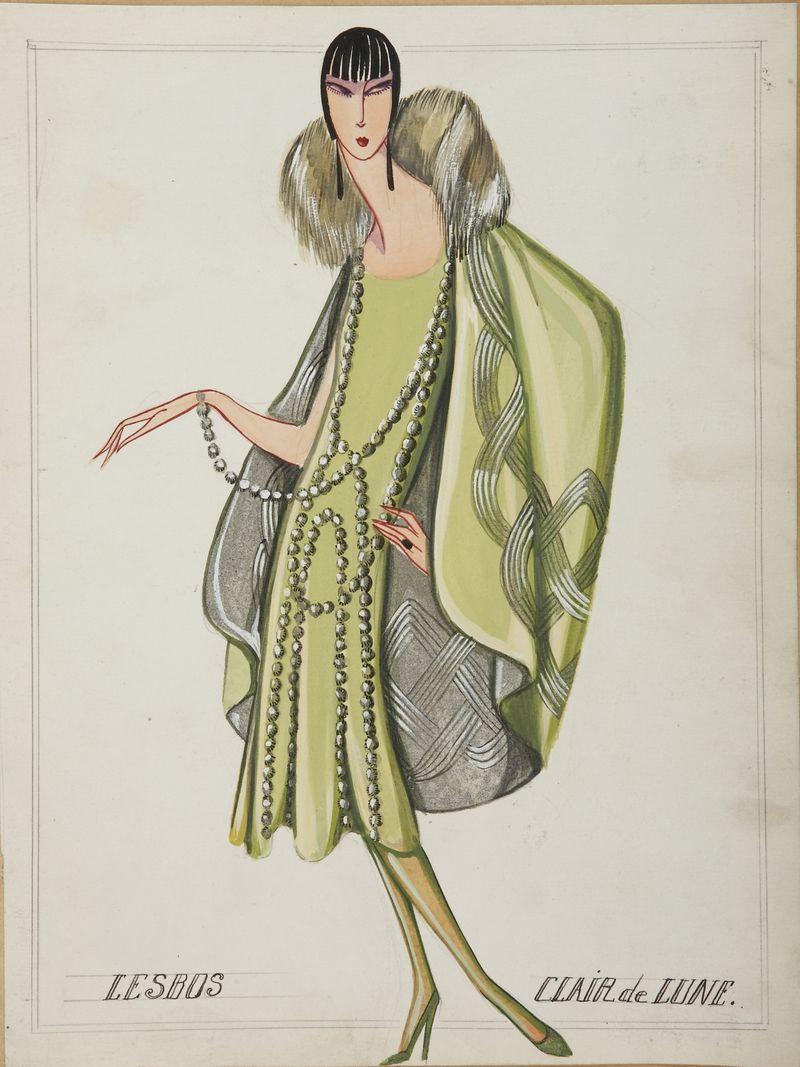 Lesbos (dessin), 1925 -® Patrimoine Lanvin (300)
