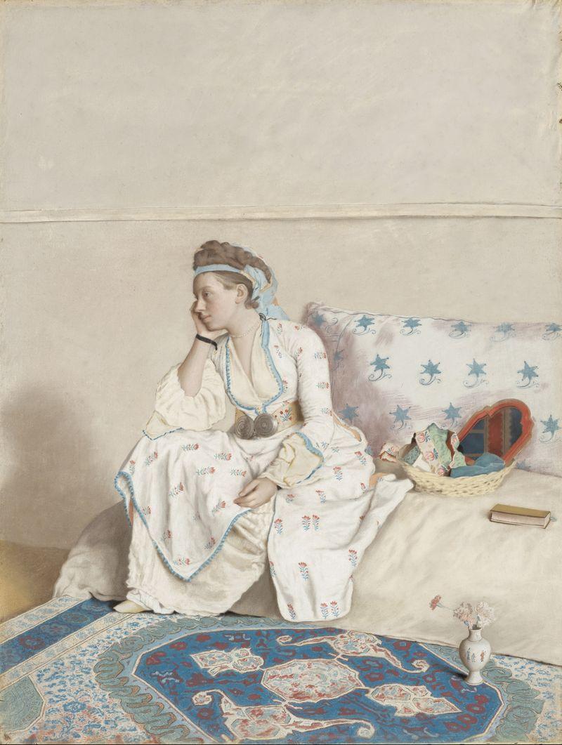 Jean-Étienne_Liotard_-_Portret_van_Marie_Fargues,_echtgenote_van_de_kunstenaar,_in_Turks_kostuum