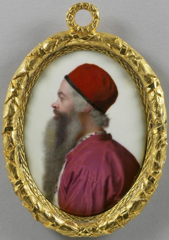 Jean-Etienne Liotard_selfportraitin profile