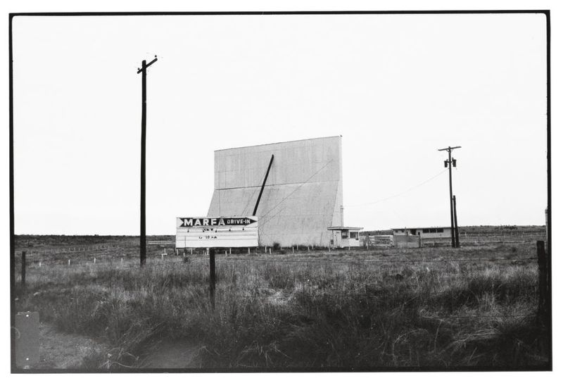 Wim Wenders, Drive-in, Marfa, Texas, 1983, Image courtesy the artist and BlainSouthern
