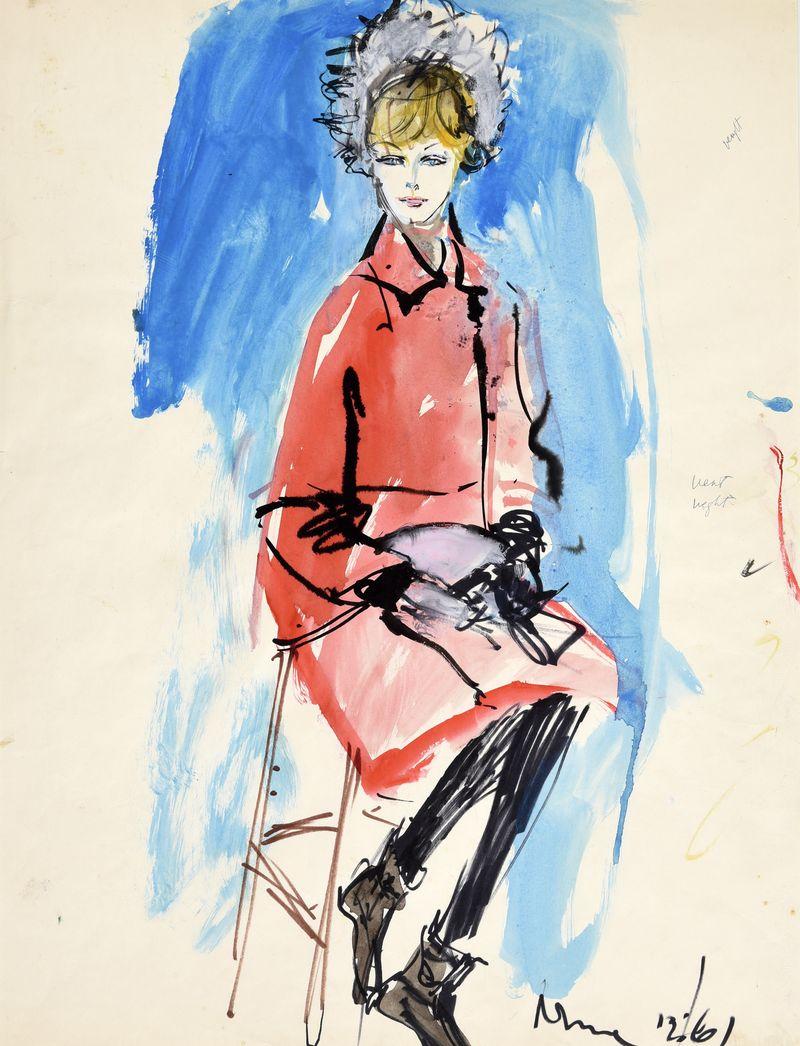 Iwin Crosthwait Nina 1961, Watercolour 50 x 65 cms inscribed -ú1,200 -® GRAY MCA
