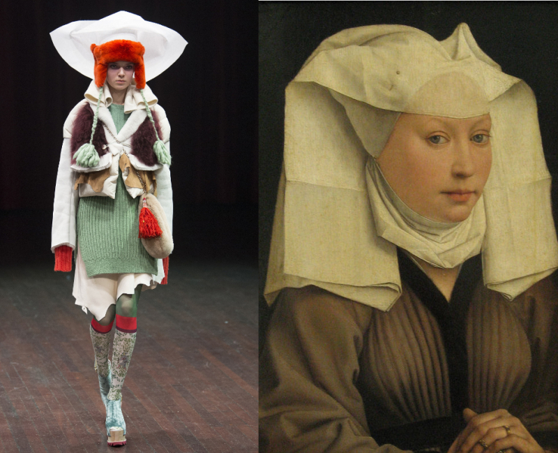 UndercoverAW17_Weyden_Lady Wearing a Gauze Headdress