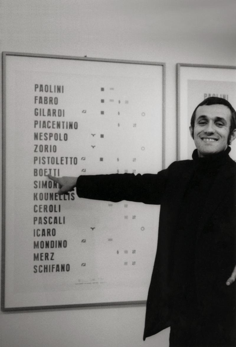 5. Alighiero Boetti  Manifesto  Galleria Toselli  1972. Fotografia Paolo Mussat Sartor