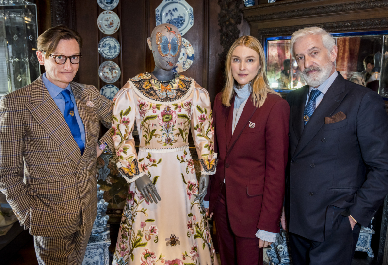 Hamish Bowles  Lady Burlington and Patrick Kinmonth at Chatsworth House Style Opening