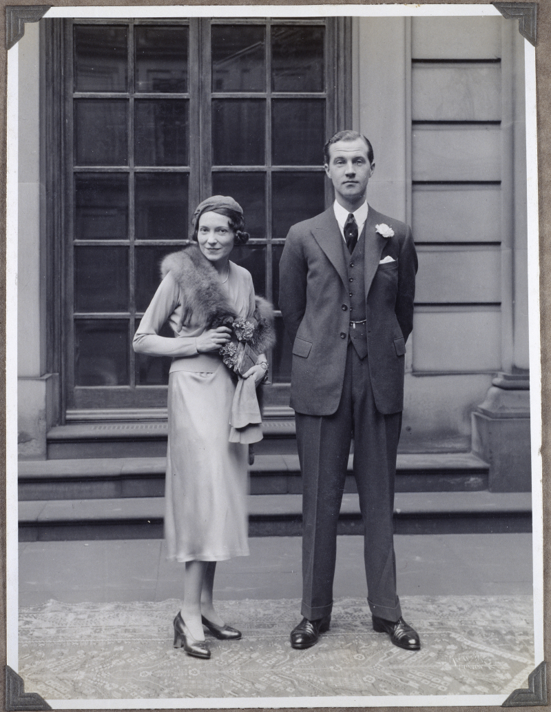 Lord Charles Cavendish and Adele Astaire on their wedding day  1932. Copyright Devonshire Collection  Chatsworth