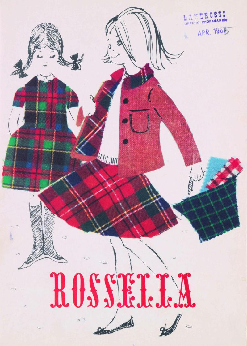 2 Copertina di campionario per tessuti Rossella Lanerossi 1965