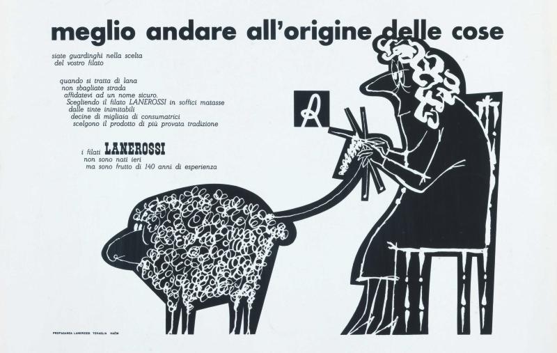 16 Pino Tovaglia annuncio pubblicitario per filati Lanerossi 1958 ca