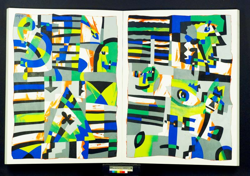 Ugo Nespolo  My Book  2007  acrilici su legno modellato  141 x 211 x 9 cm