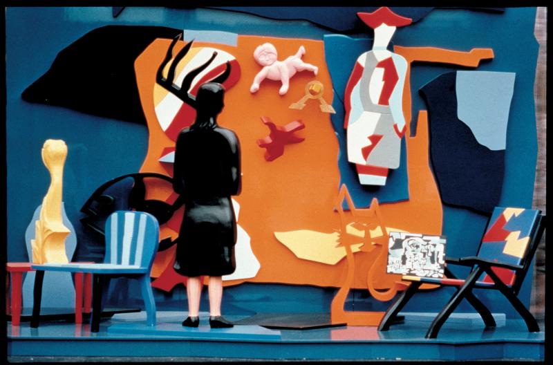 7_Ugo Nespolo  Avanguardia educata  1995  opera polimaterica abitabile  250 x 400 x 160 cm