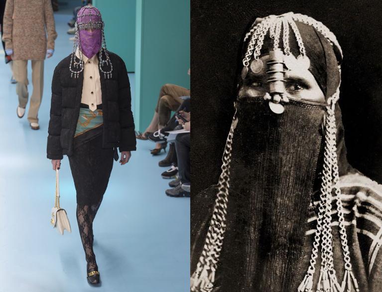 Gucci_AW18_veiled Berber woman in Algiers Kasbah