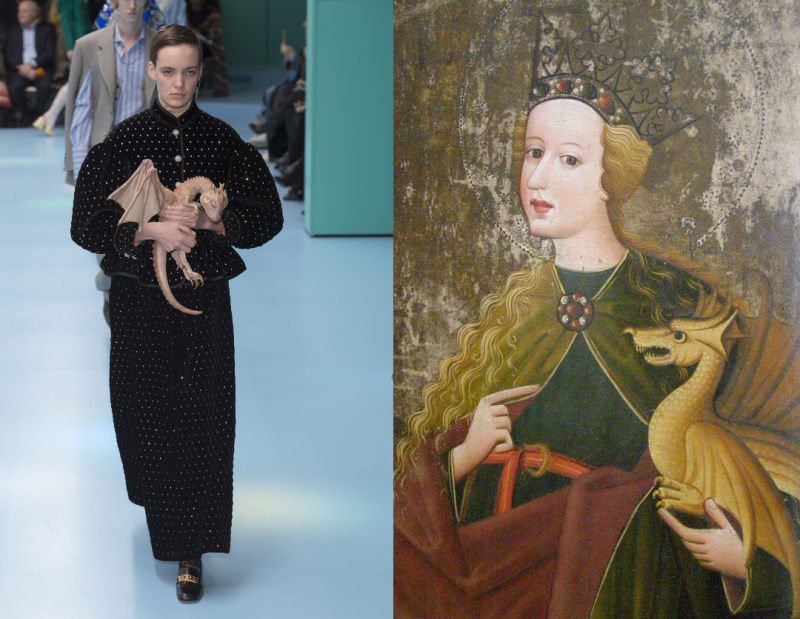 Gucci_AW18_b_Saint Margaret_end of the 15th century