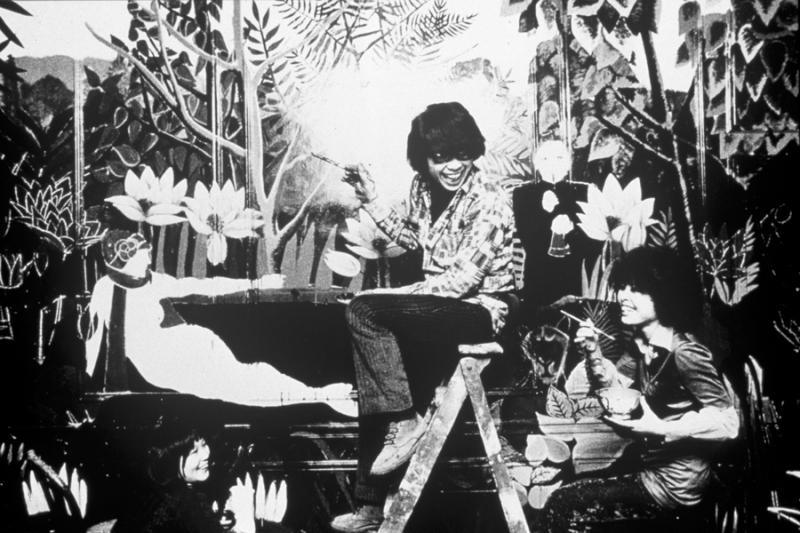 Kenzo Takada in first 1970 Jungle Jap shop in Galerie Vivienne