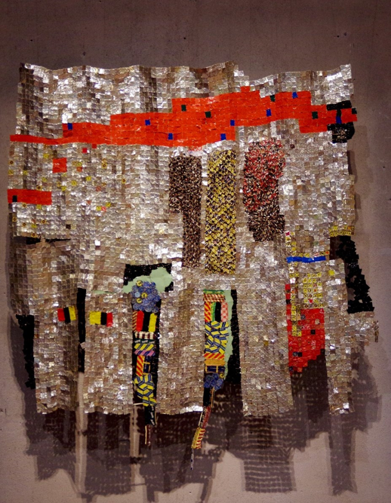 10 BORDERLINE MINIARTEXTIL COMO 2017 - Seeds  El Anatsui - ph. Giuseppe Vitali