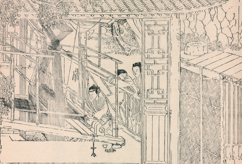 Yale._yu_zhi_geng_zhi_tu_chinese_woodcuts_on_silk_production_detail