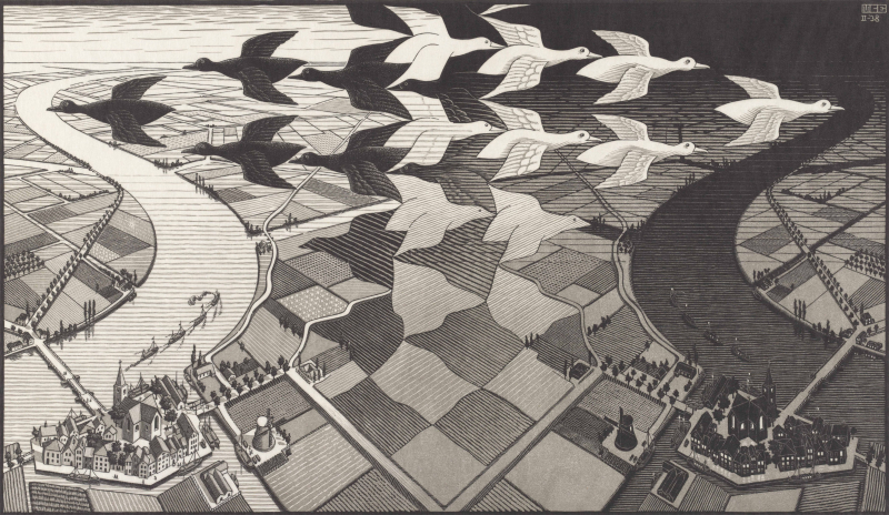 Dag en Nacht (1938)  M.C. Escher © the M.C. Escher Company B.V. All rights reserved. www.mcescher.com