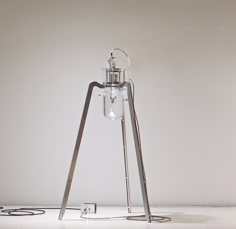 Yunchul Kim  Flare  2014  Flare Solution  Motor  Micro-controller  Double Jacketed Reactor  Courtesy the artist