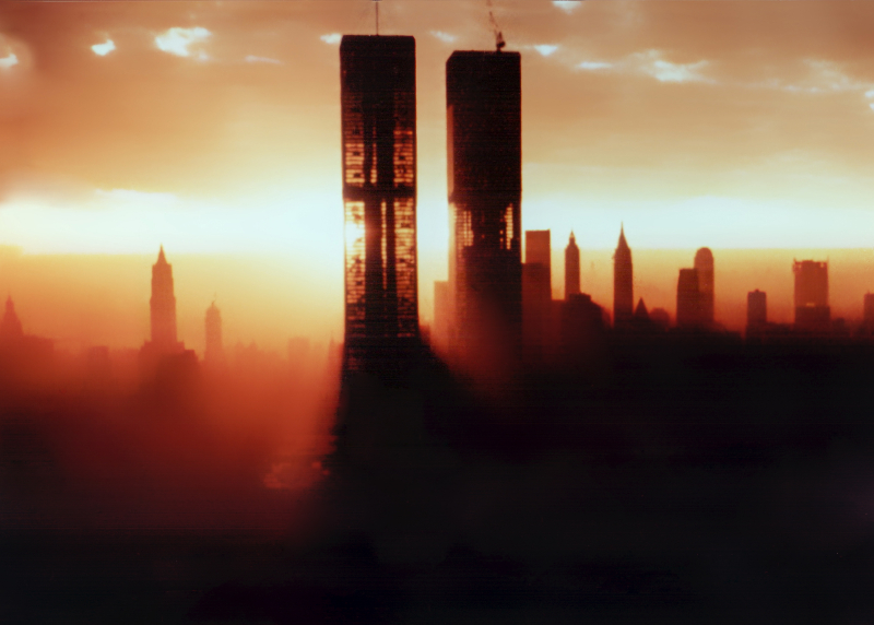 Twin Towers in orange light_Courtesy Les Robertson