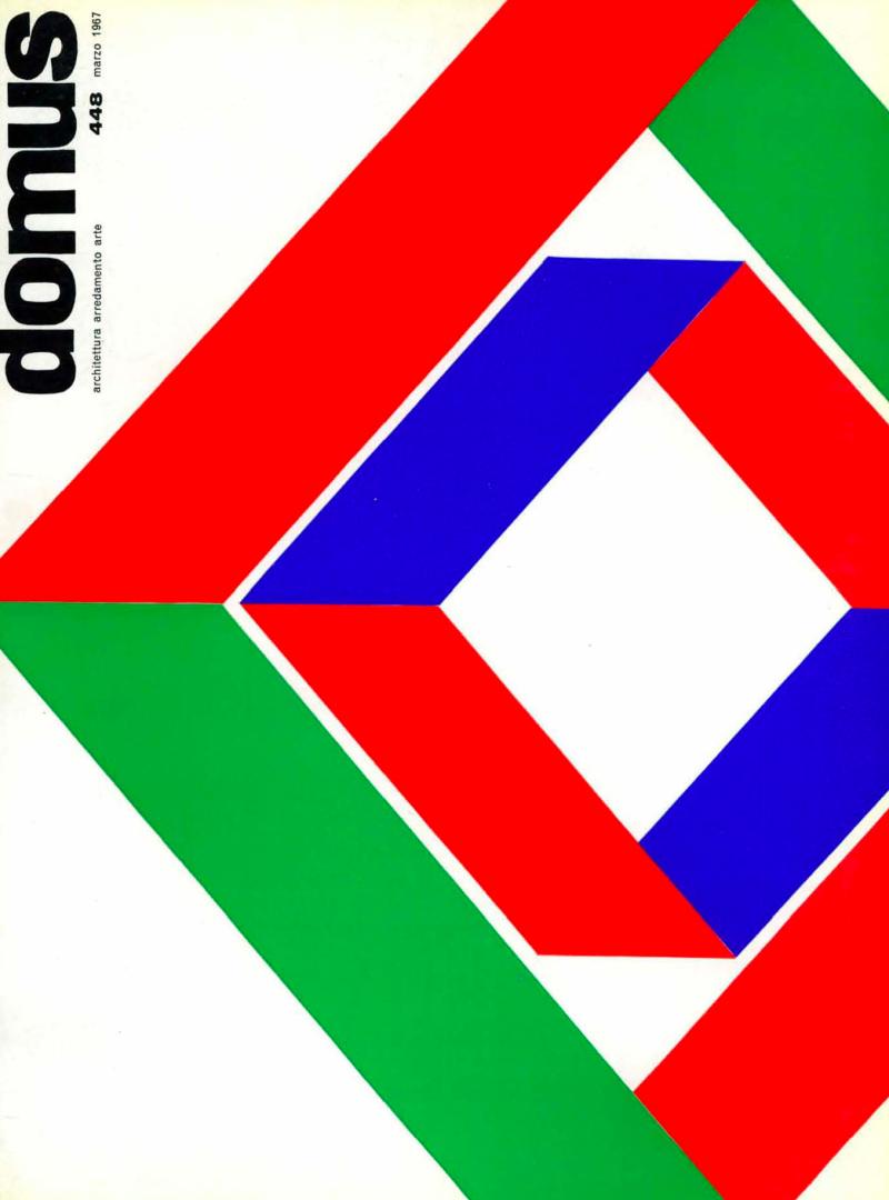 Couverture revue Domus n°448 - mars 1967_2
