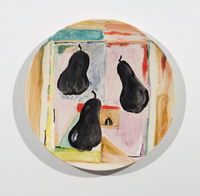 2010-Poires Noires Ceramic Plate-240_EDIT